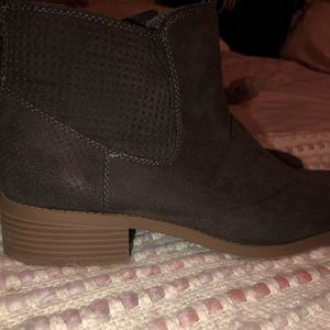Target Shoes - taupe brown booties